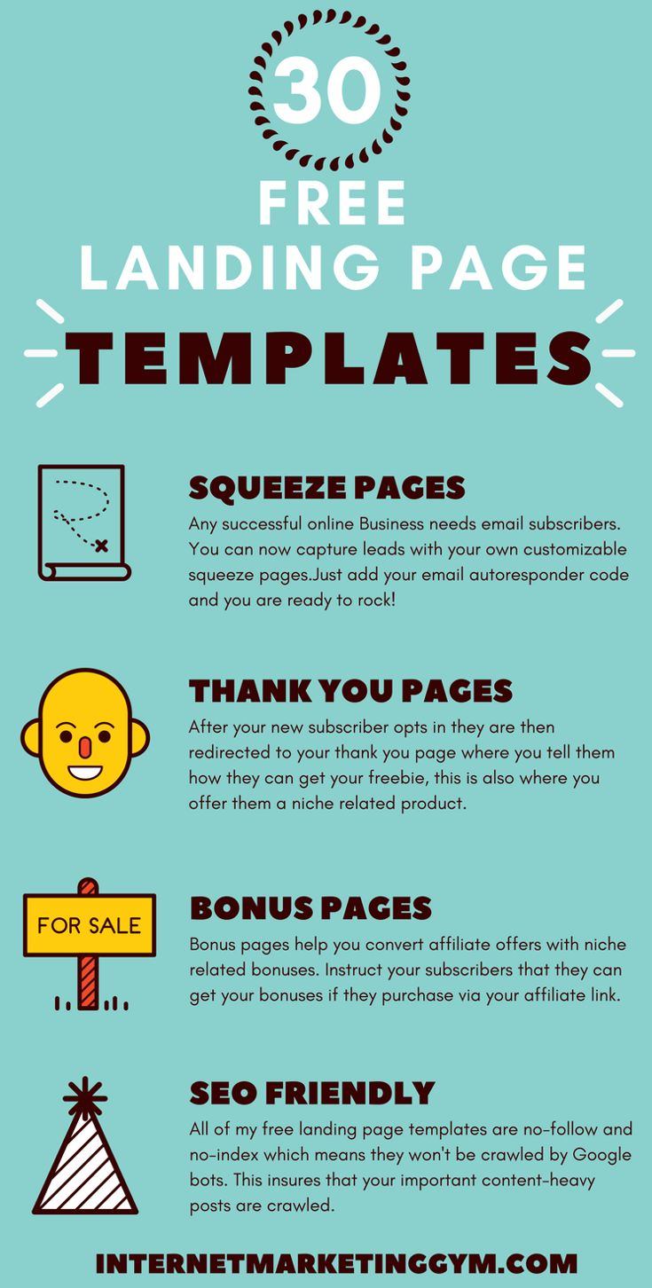Best Internet Marketing Gym Images On Pinterest - Free squeeze page templates