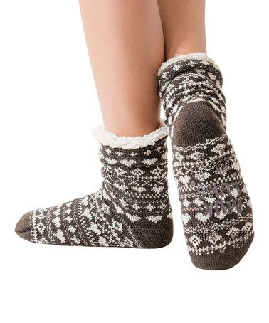 Love this Dark Brown Fluffy Cabin Socks - Women on #zulily! #zulilyfinds