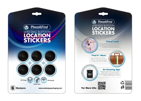 Location Stickers Blister Packaging Design
