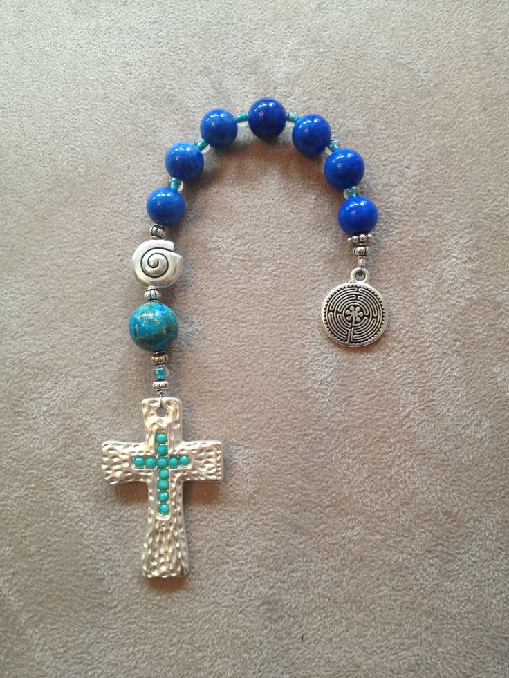Handmade pocket Anglican prayer beads.