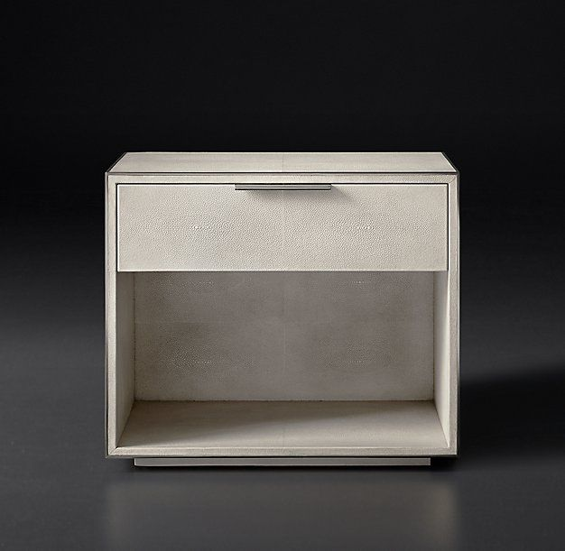 Smythson shagreen 26 open nightstand