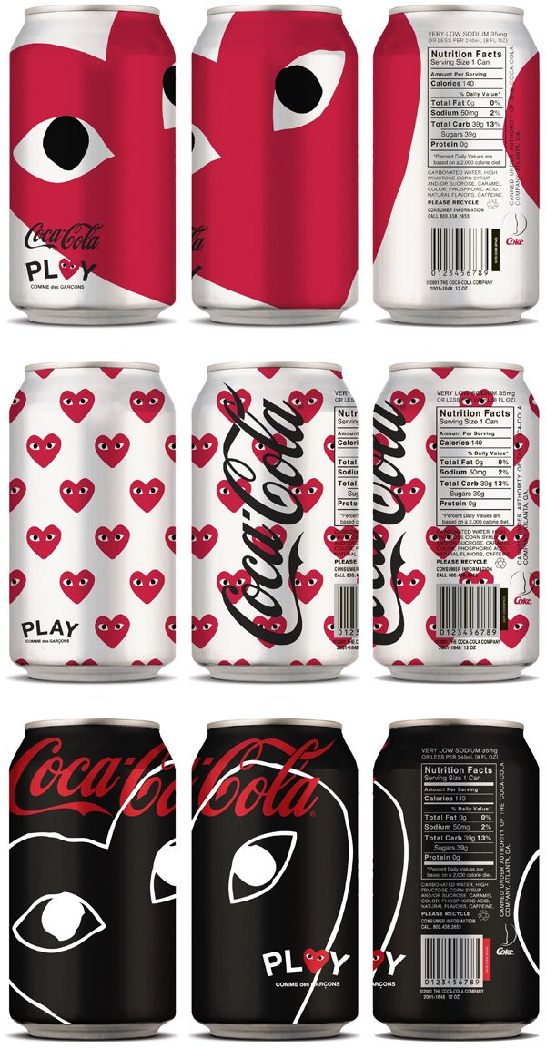 Coca Cola x PLAY Comme des Garçons - I suspect @Felix Flores would appreciate this...plus it's just cool.
