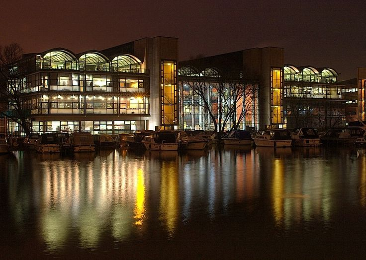 """""""Lincoln University seen from Brayford Warf North in Lincoln"""" by Dave Ayres at PicturesofEngland.com"""