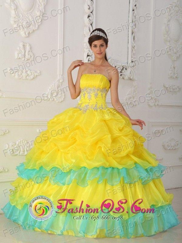 yellow dress ruffles sour
