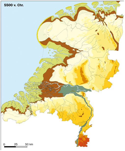 The Netherlands at 5500 BC