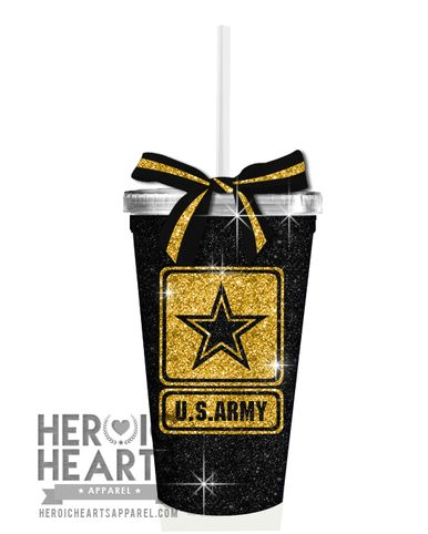 Limited Army Glitter Tumbler