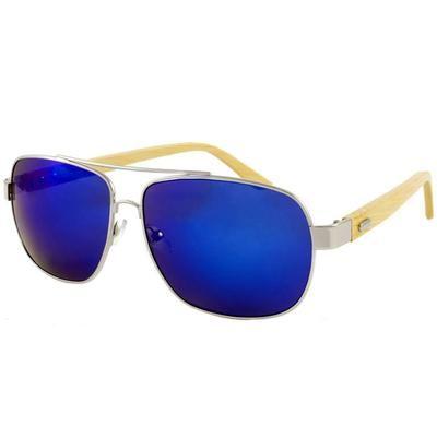 Ξύλινα Γυαλιά Ηλίου Bamboo Aviators BLUE-BLUE-e-chap
