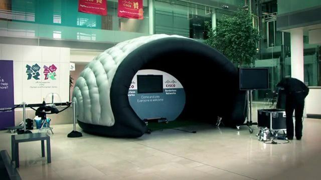 In just 30 minutes this Interactive Product Awareness stand was ready for use  #Inflatable #Temporary #Structure #Events http://www.brandinteractivation.com/