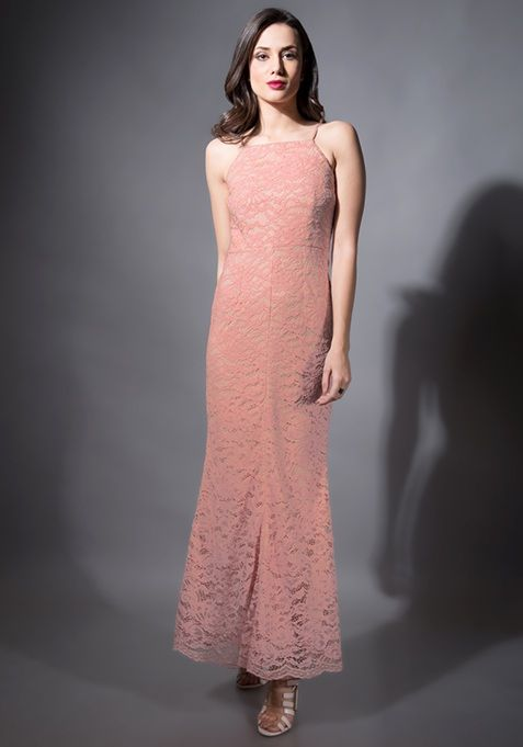 65bb278114 Pink Lace Mermaid Maxi Dress #Fashion #FabAlley #PartyWear #WeddingWear  #MaxiDress #Dress #Party #GoingOutAttire #GoingOutDresses #Mermaid