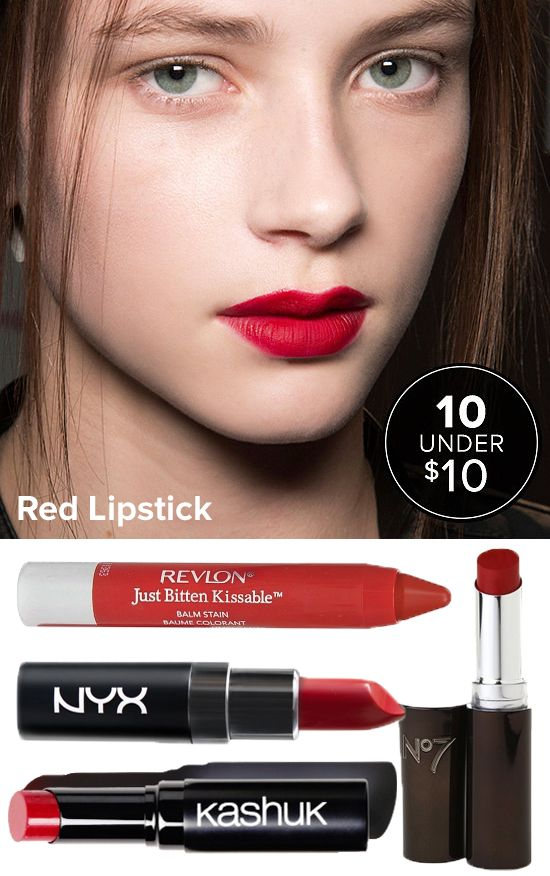 You should try each and every one of these red lipsticks because each one costs less than $10