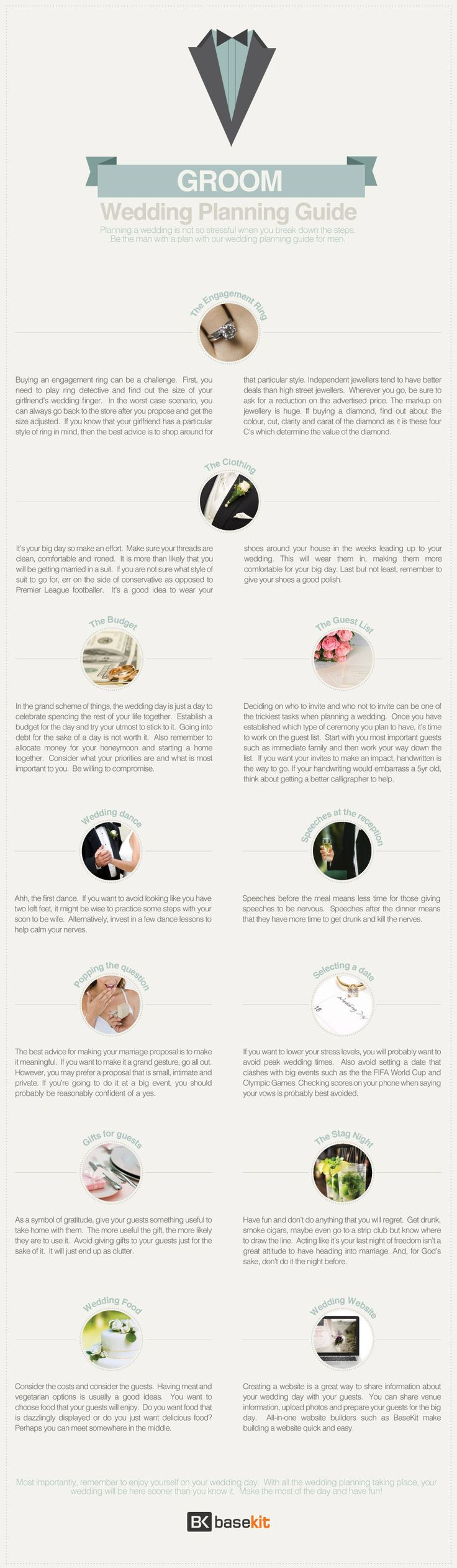 Groom's Guide To Wedding Planning [INFOGRAPHIC]