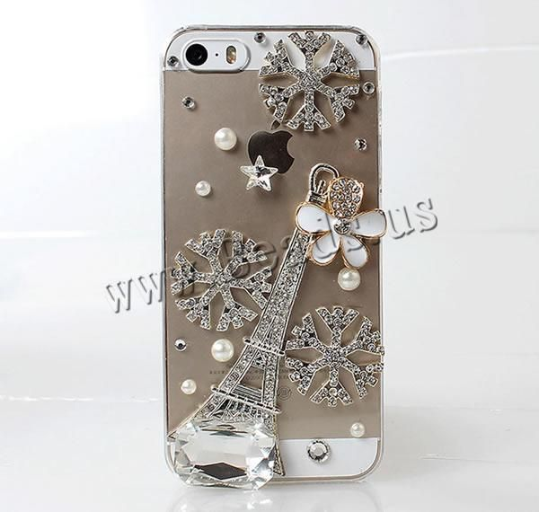 Customized Mobile Phone Cases, Plastic, with ABS Plastic & Zinc Alloy & Acrylic