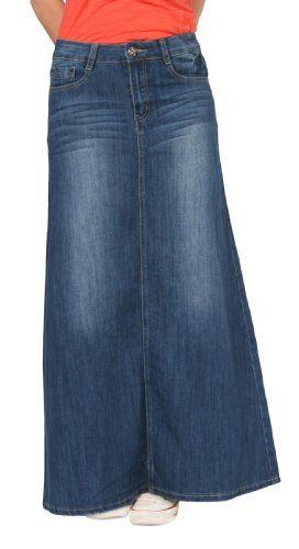 modest denim jean skirts for 2 apostolic