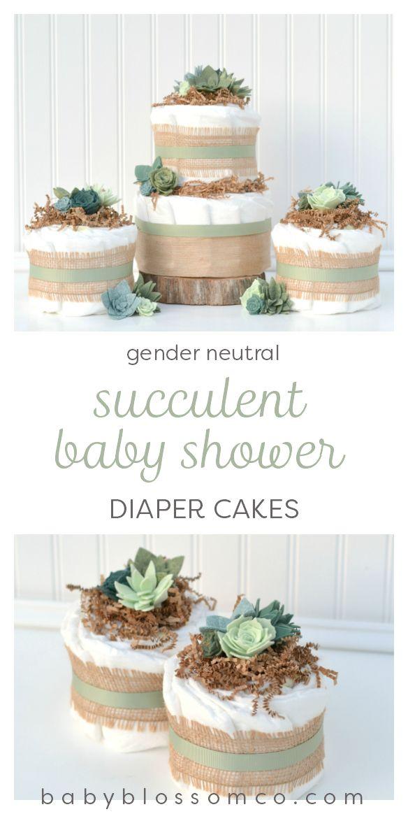 Succulent Diaper Cake Decoration Package In 2019 Succulent Cactus