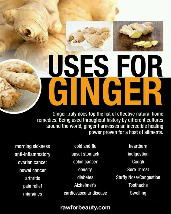 Ginger tops the list for health remedies