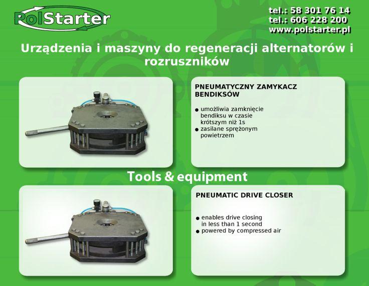 🔲 Nasza firma posiada w swojej ofercie #urządzenia  i #maszyny do regeneracji alternatorów i rozruszników  🔲 Przedstawiamy pneumatyczny zamykacz bendiksów  ✔ Odwiedź naszą stronę internetową i sklep internetowy: ➜ www.polstarter.pl ➜ www.sklep.polstarter.pl  🔲 KONTAKT: 📲 792 205 305 ✉ allegro@polstarter.pl  #rozrusznik   #alternator   #rozruszniki   #alternatory   #samochód #samochody   #motoryzacja   #części   #samochodowe   #oferta   #maszyna   #regeneracja   #bendiks   #urządzenie