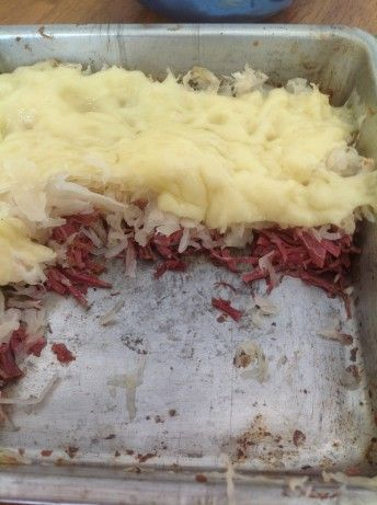 I found this on a low carb site... very easy and tasty too!  You wont miss the bread (much anyway lol!)  I buy Boars Head corned beef sliced thin.  Yummy!