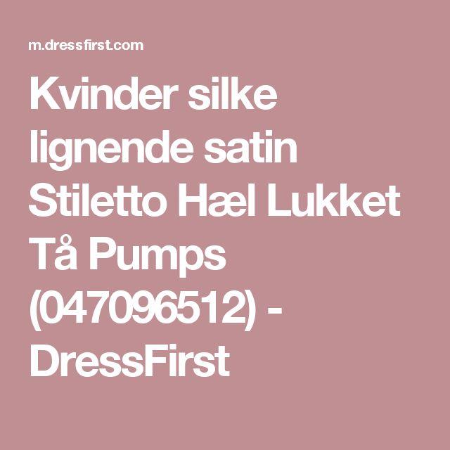 Kvinder silke lignende satin Stiletto Hæl Lukket Tå Pumps (047096512) - DressFirst