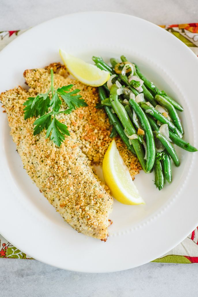 Baked Parmesan Crusted Tilapia for Two