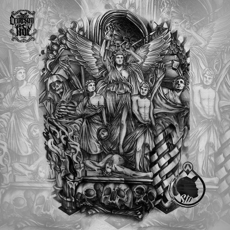 #design #customart #art #image #customwork #skulls #angels #bng #coverup #backtattoo #death #candles #bngtattoos #tattoo #ink #tattooed #inked #inkstagram #crimsontideink #london #tattooinlondon #igorsto #tattooart #tattoostagram #татухи #татуировка #тату #лондон Done for a whole back! www.tattooinlondon.com