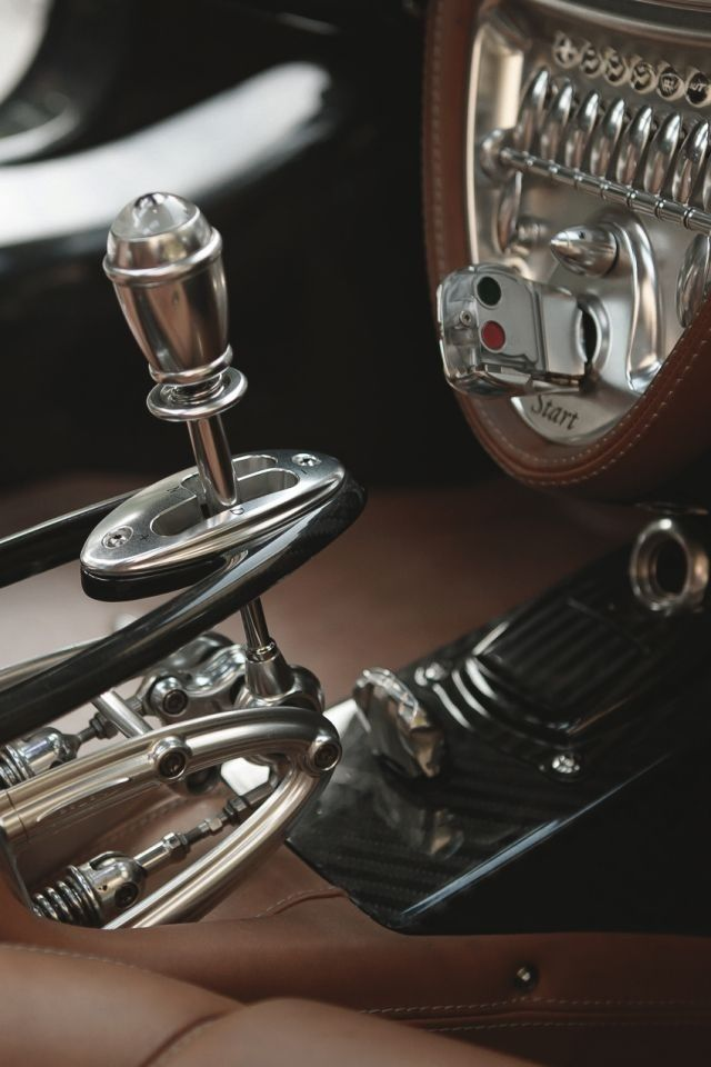 Pagani Huyara shifter... It has both paddle and stick shifter depending on how connected you want to be to the car.