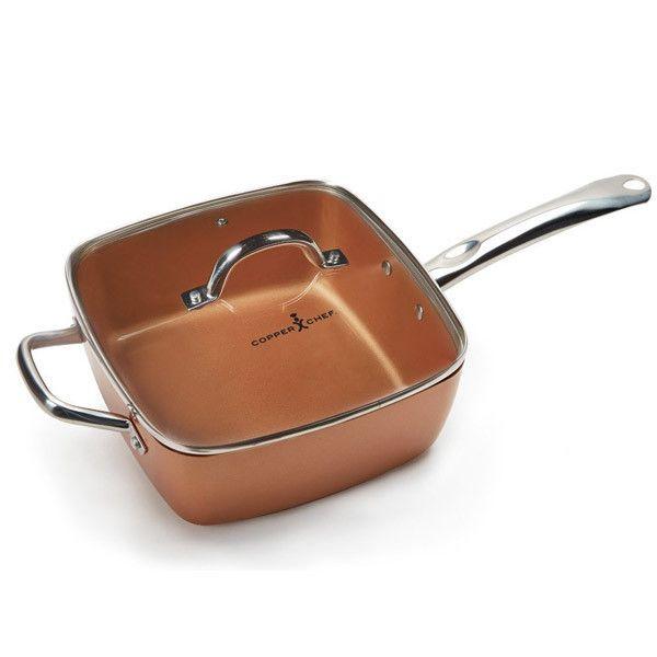 """Copper Chef 9.5"""" Square Pan Set"""