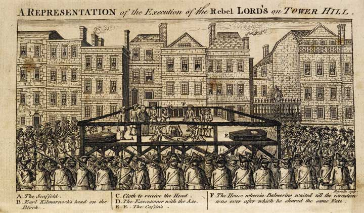 Illustration in the Tyburn Chronicle of a public execution , 1786,