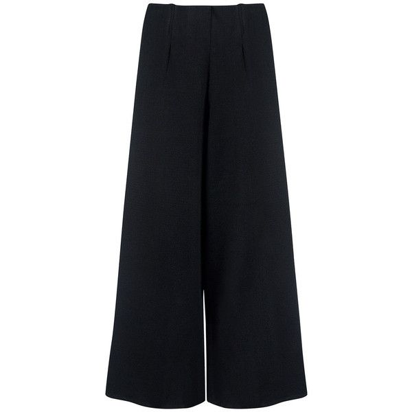 C/meo Collective - The happening Knit culottes (€110) ❤ liked on Polyvore featuring pants, capris, bottoms, pantaloni, skirts, cropped pants, high waisted pants, wide leg dress pants, suit pants and wide leg cropped pants