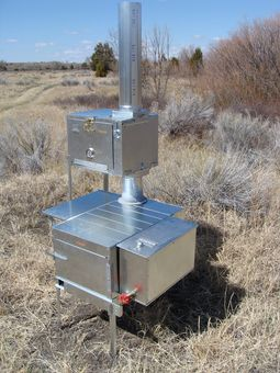 Outdoor wood stoves riley stove company townsend mt for Outdoor wood cooking stove