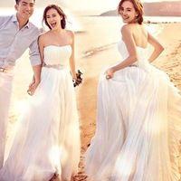 2017 Nova A Linha Querida Cristal Mangas de Cetim Branco Vestido de Casamento Nupcial Do Vestido de Casamento Vestido De Noiva 10131