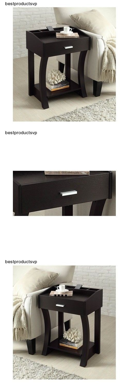 Tables 38204: Side Table With Drawer Furniture Living Room End Wood Modern Sofa Nightstand New -> BUY IT NOW ONLY: $86.2 on eBay!