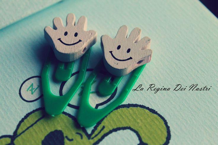 Smile paper clips(set of 2 pcs)