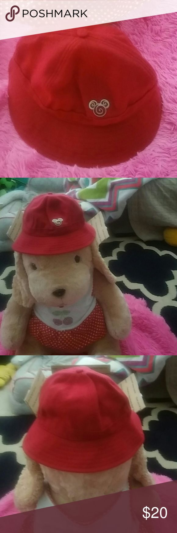 Nwt red Disney wool bucket hat This is a Disney Parks original Mickey Mouse red bucket hats originally $60 at the parks super rare but a must have Disney Accessories Hats