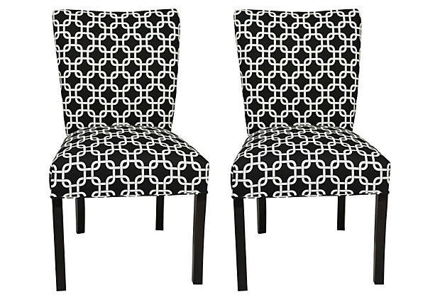 Black Conan Dining Chairs, Pair on OneKingsLane.com