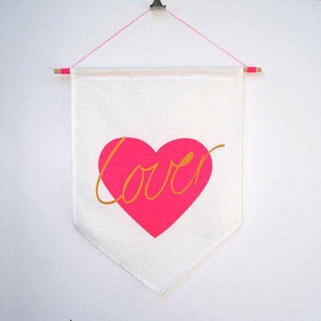 'Lover' Flag – Taylor + cloth handmade textiles + homewares