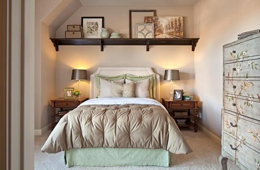 shelf above bed Floating shelves bedroom, Bed shelves