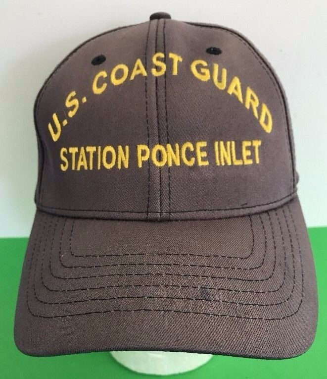 US COAST GUARD Station PONCE INLET U.S. Gray CAP Baseball Hat Size S/M SM/MED #eBayDanna