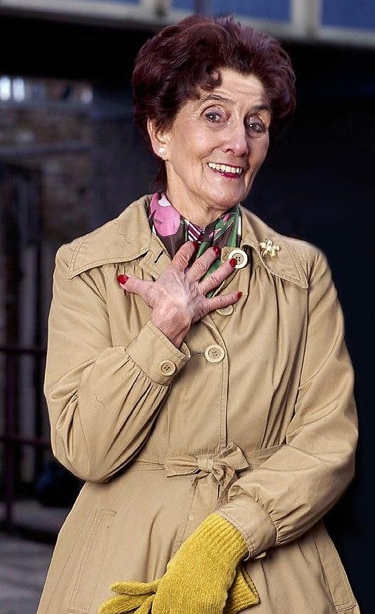 June Brown in her Dot Branning character.  Eastenders