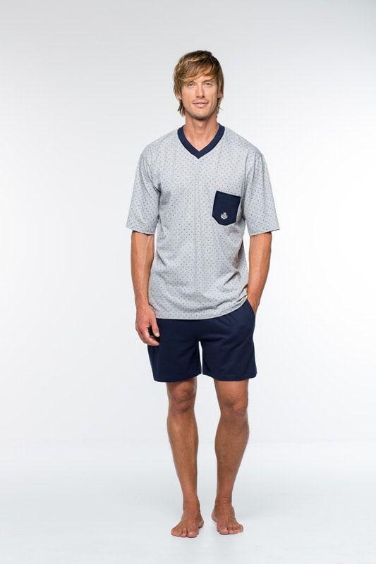 9f24b8bc6 Elegante pijama de primavera-verano en corto para hombre de la marca  Guasch. Tejidos finos para usar durante en los meses más calidos del año.