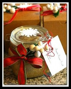 Sugar ScrubBody Scrubs, Teacher Gifts, Teachers Gift, Sugarscrub, Gift Ideas, Homemade Sugar Scrubs, Diy Gift, Almond Oil, Christmas Gift