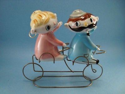 Holt Howard Era Relco Pixie Girl Boy Bike Salt Pepper   #133868362