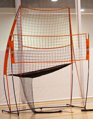Bownet Portable Volleyball Station - One-of-a-kind new portable sports net that works great for volleyball, indoors or out.