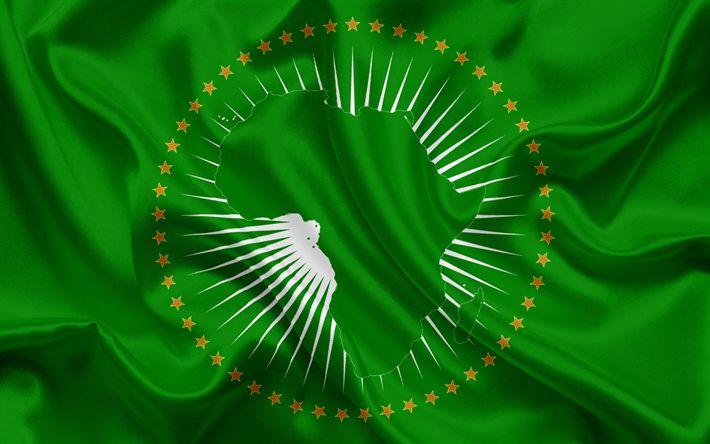 Lataa kuva Afrikan Unionin lippu, Tunnus, logo, Symbolit, Afrikan Unionin