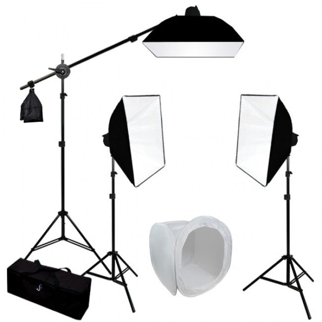 3 MonoLight Strobe Photo Studio Flash Lighting Softbox Boom Kit w/ Carrying Case  sc 1 st  Pinterest : flash lighting - azcodes.com