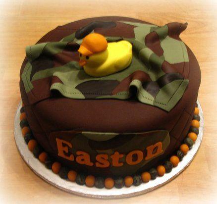 Lovely Camo Baby Shower Cake