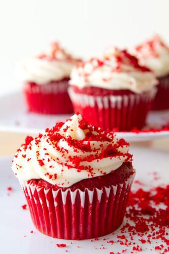 DESSERT Red Velvet Cupcakes - because every party has to have some sort of cake!