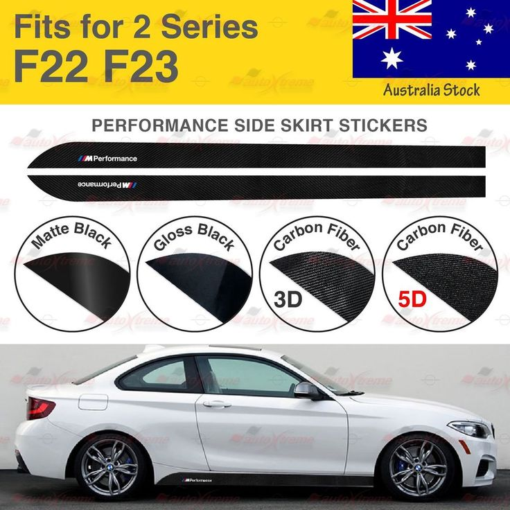 For BMW F22 F23 2 Series M Performance Side Skirt Sill Vinyl Decal Stickers AU