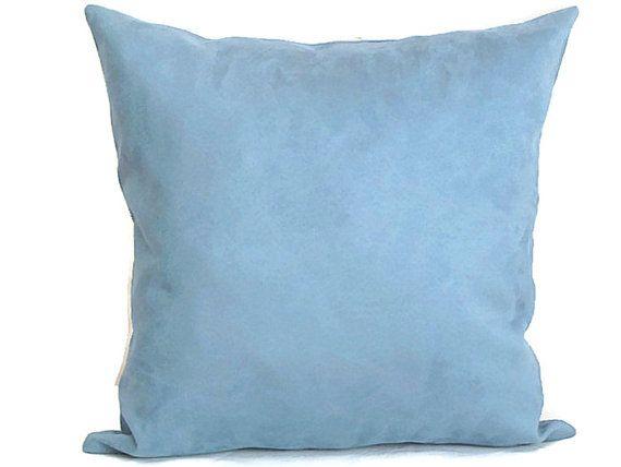 Blue pillow sham – 20x20 pillow cover – Custom throw pillow – Microsuede velvet cushion cover – Soft pillowcase – Classic mediterranean toss
