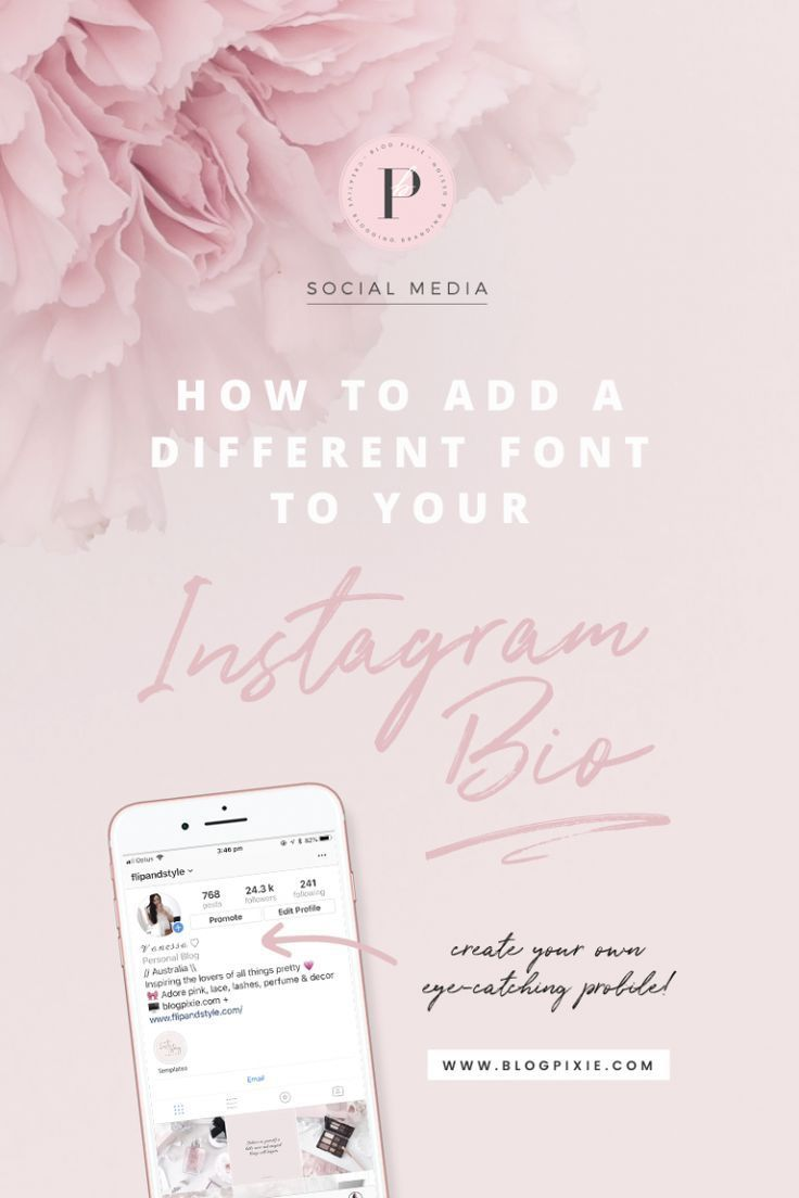How To Change The Font In Your Instagram Bio Blog Pixie Instagram Bio Instagram Business Instagram Font