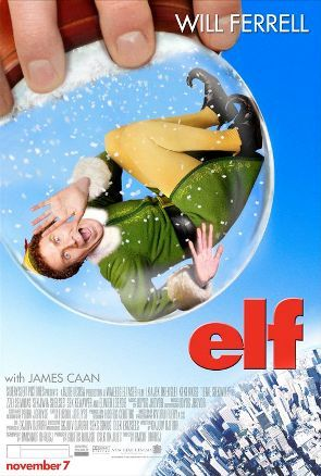 "After inadvertently wreaking havoc on the elf community due to his ungainly size, a man (Will Ferrell) raised as an elf at the North Pole is sent to the U.S. in search of his true identity in ""Elf"", 2003."